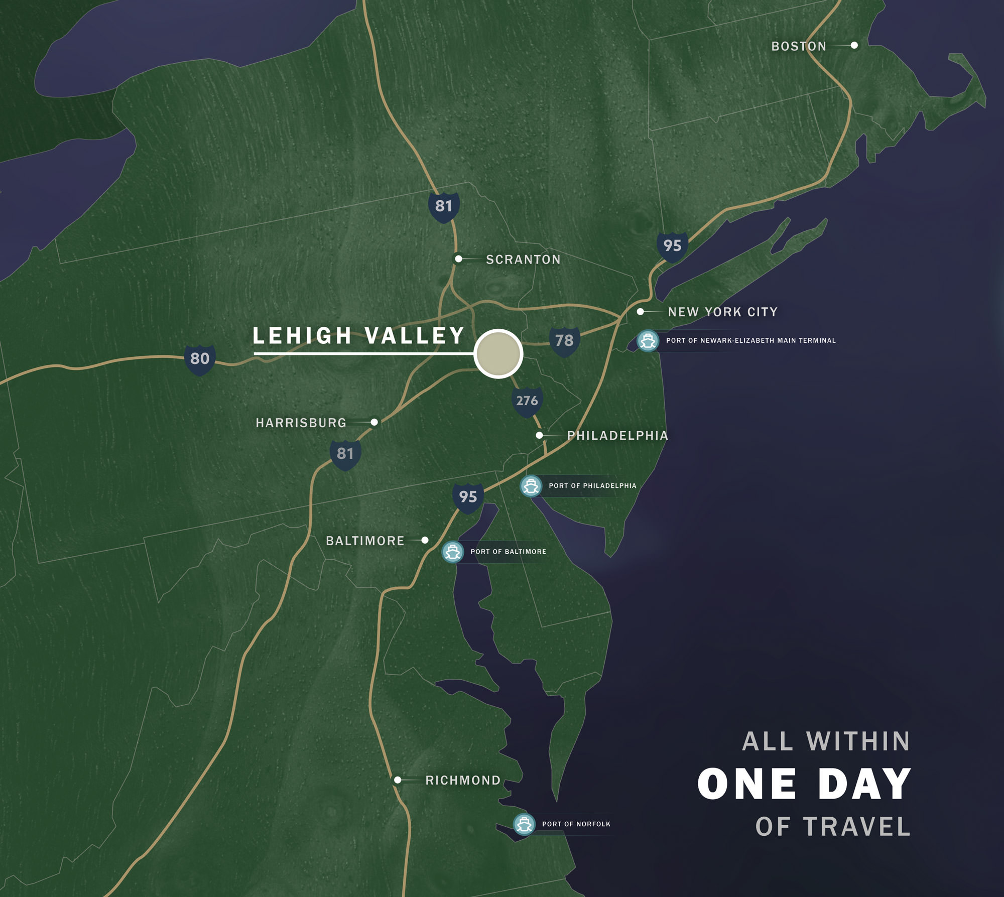 Lehigh Valley - All in one days drive